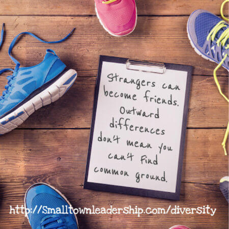 Running with a stranger: A lesson in diversity