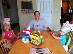 Play Doh at the Kitchen Table